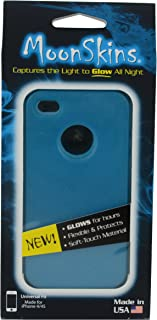 Moonskins MSK-TW01-01 Glow in the Dark Case for iPhone 4/4S - 1 Pack - Carrying Case - Retail Packaging - Blue