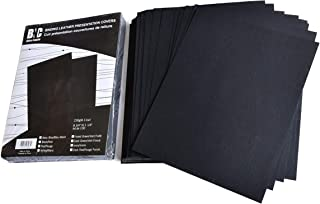 BNC Leather Texture Paper Binding Presentation Covers 8.75