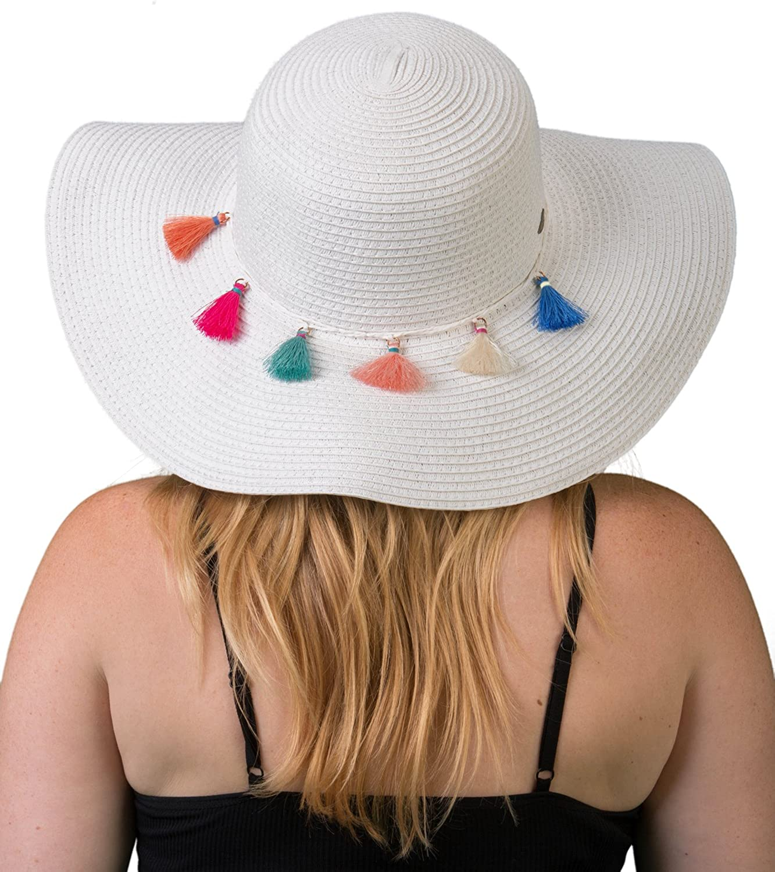 Beach Accessories Multicolored Pom Pom Sun Hat