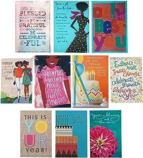 Hallmark Mahogany Birthday Cards Assortment (10 Cards with Envelopes)