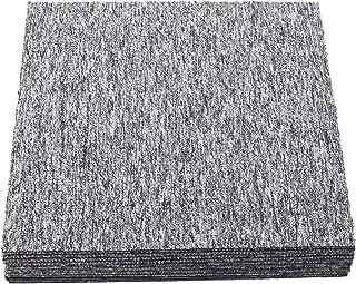 uyoyous 20Pcs Freely Splice Carpet Tiles Hard Wearing Loop Pile Carpeting Anti-Slip Square Premium Flooring Tiles Rug with...