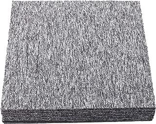 Nisorpa Heavy Duty Carpet Floor Tiles 20x20 inch Light Grey 20pcs Commercial Carpet Tile 50X50CM Carpet Squares Bitumen Backed