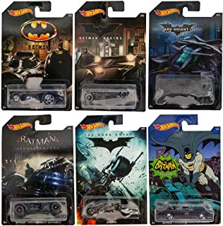Hot Wheels Batman Complete Set of 6 Diecast Cars - Batmobiles, Bat-pod etc.