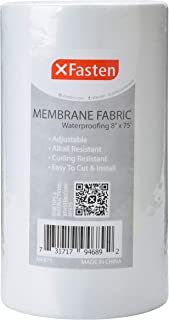XFasten Fiberglass Waterproofing Anti-Fracture Membrane Fabric Sheet, 8-Inch by 75-Foot, Water Barrier Mesh Tape Roll for Shower Walls and Tiles
