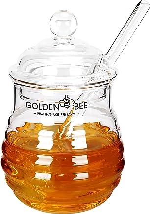 Preisvergleich für fecihor Kristall Honig Jar/Einmachglas mit Bär, Glas, 9Unzen