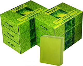 Vaadi Herbals Alluring Neem Tulsi Soap with Vitamin E and Tea Tree Oil, 75g (Pack of 6)