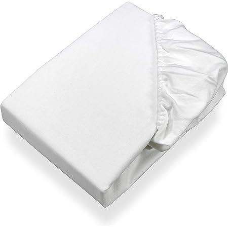SETEX Sergé Protège-matelas molletonné, drap-housse, 120 x 200 cm, 100% Coton, Basic, Blanc, 1308 120200 404 002