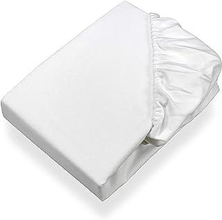 SETEX Sergé Protège-matelas molletonné, drap-housse, 160 x 200 cm, 100% Coton, Basic, Blanc, 1308 160200 404 002