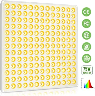 LED Grow Light, Roleadro 75W Full Spectrum Grow Light for Indoor Plants, 3500k Sunlike Plant Light for Seedings Growing, Blooming and Fruiting, Hydroponic, Micro Greens, Clones