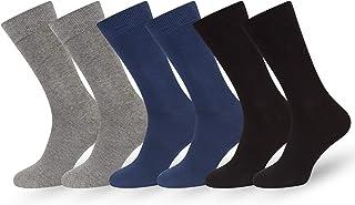 Calcetines Lisos Hombre Mujer Algodón Peinado Negro Azul Gris Marron Beige 6 PR