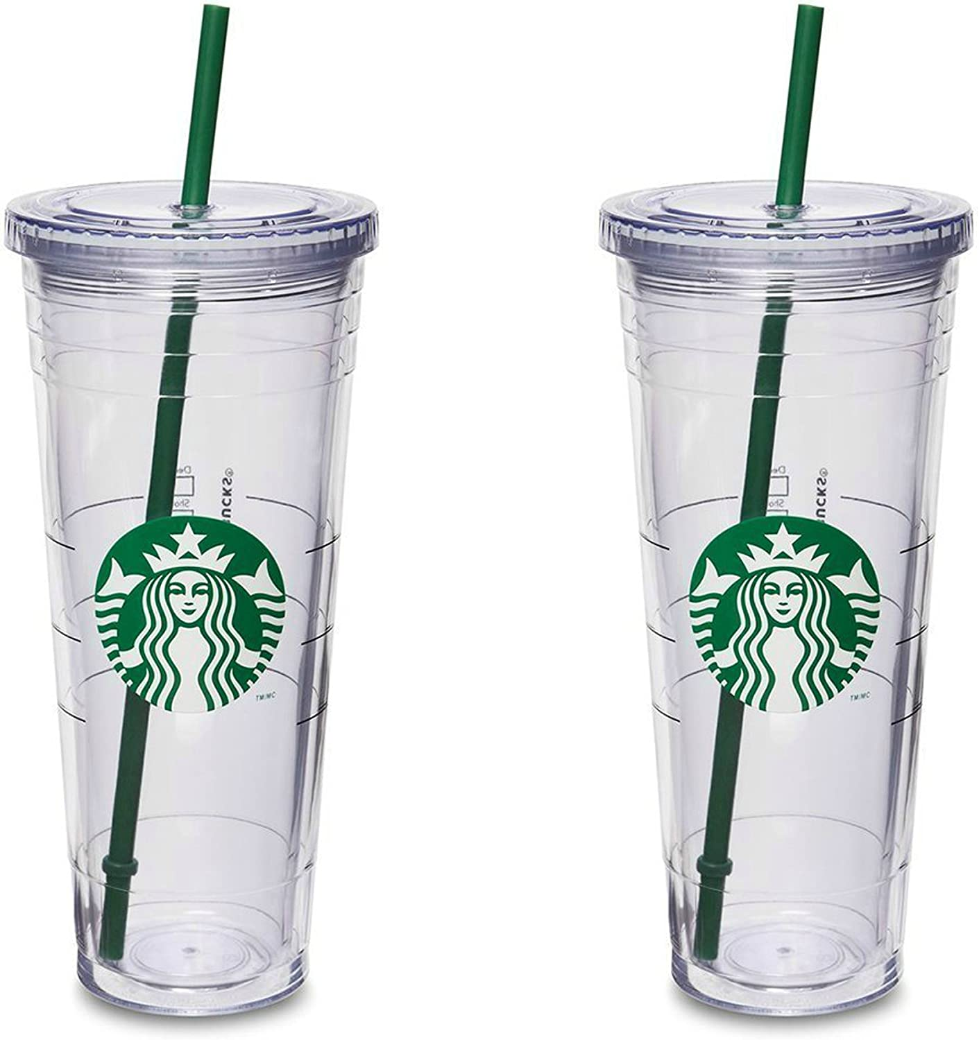 Starbucks Venti Insulated Travel Tumbler 24 OZ   Double Wall Acrylic   2 Pack Set