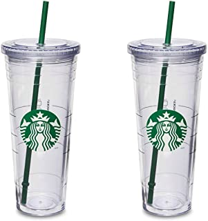 Starbucks Venti Insulated Travel Tumbler 24 OZ / Double Wall Acrylic / 2 Pack Set