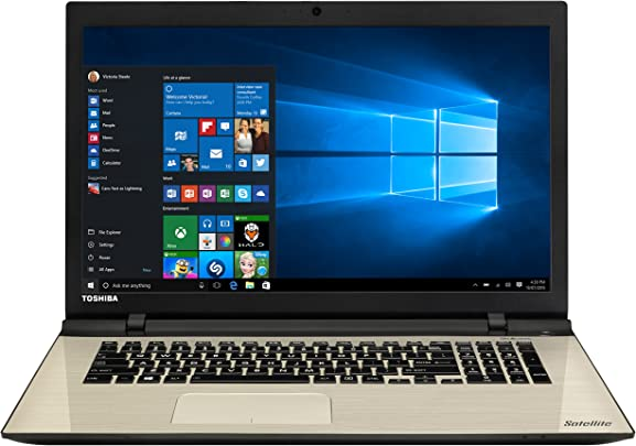 Toshiba Satellite L70-C-121 43 9 cm 17 3 Zoll Full HD IPS Laptop Intel Core i5-5200U 8GB RAM 1TB HDD NVIDIA GeForce 930M DVD Win 10 Home satingold Schätzpreis : 376,00 €