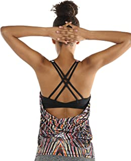icyzone Yoga Tops Workouts Clothes Activewear Built in...