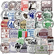 Vintage Travel Postmark Sticker Pack of 60 Stickers Suitcase Stickers for Laptops Hydro Flasks Water Bottles Luggage