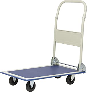 Best Choice Products Foldable Rolling Warehouse Platform Dolly Push Cart w/ 330lb Capacity, Non-Slip Surface