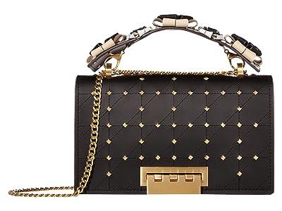 ZAC Zac Posen Earthette Chain Shoulder w/ Floral Feature Handle Multi (Black) Handbags