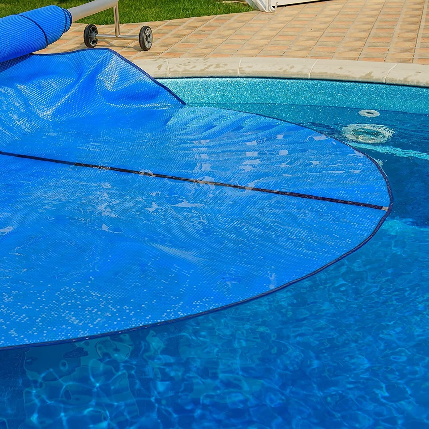 35% OFF YXX Large Round Swimming Pool Cover PE Recommended Solar Plastic Pr Outside