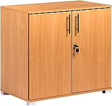 Armadietto da ufficio in legno di faggio, con 2 ante e serra