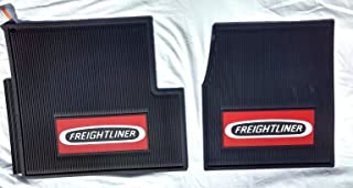Freightliner Classic & Classic XL & FLD Black All-Weather Rubber Floor Mats OEM with Truck Logo - Fits All Years