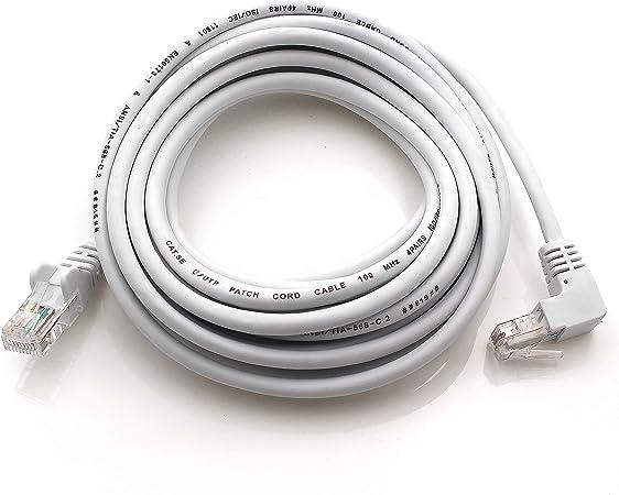 1aTTack.de 367940 - Cable de red Cat5 en ángulo de 90 grados, 1 m, 1 unidad, color negro: Amazon.es: Electrónica