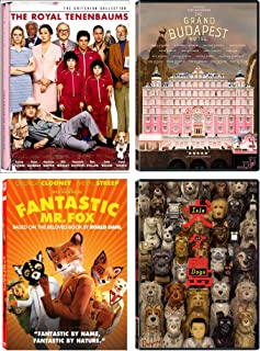 Wes Anderson: Ultimate 4 Movie DVD Collection (The Royal Tenenbaums / The Grand Budapest Hotel / Isle of Dogs / Fantastic Mr. Fox)
