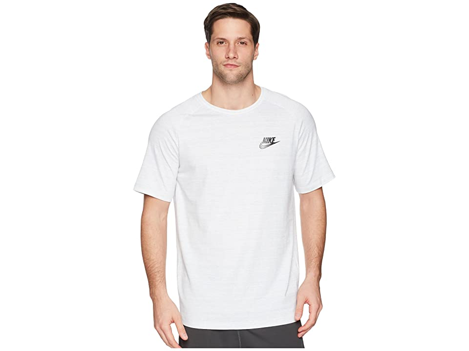 Nike Sportswear Advance 15 Top (White/Heather/Black) Men