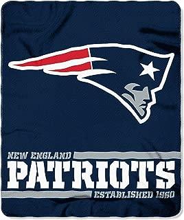 Northwest NFL New England Patriots 50x60 Fleece Split Wide DesignBlanket, Team Colors, One Size