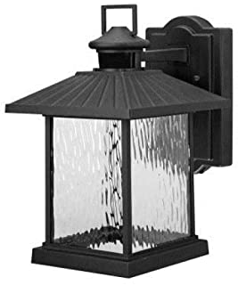 Hampton Bay 1000 001 784 Lumsden Wall-Mount Outdoor Black Led Motion Sensor Lantern, See Picture