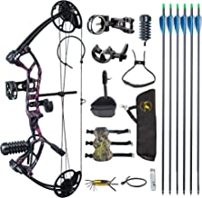 "TOPOINT ARCHERY M2 Youth Compound Bow Set Beginners,Junior&kids Bow Women Bow 17""-27"" Draw Length,10-40Lbs Adjustable,290f..."