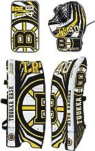 Franklin Sports Tuukka Rask Tuukka Rask Street Hockey Goalie Equipment Set - L/XL Goalie Pads Catch Glove & Blocker - NHL Official Licensed Product