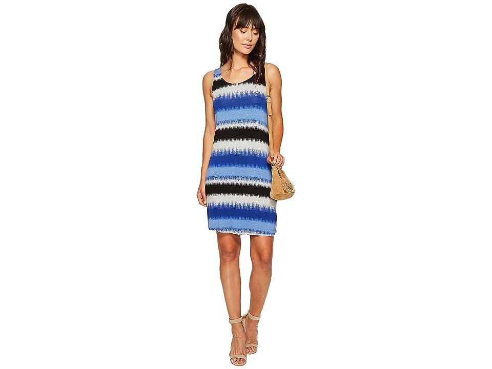 kensie Burst Stripes Dress KS6K9569 (Dark Sapphire Combo) Women