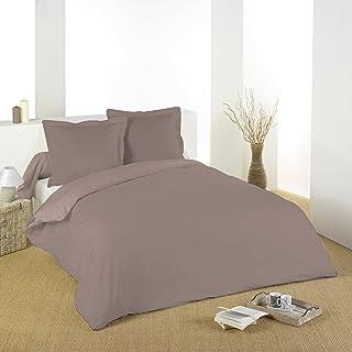 Lovely Casa HC34820003 Alicia Housse De Couette Coton Taupe 240 X 220 Cm