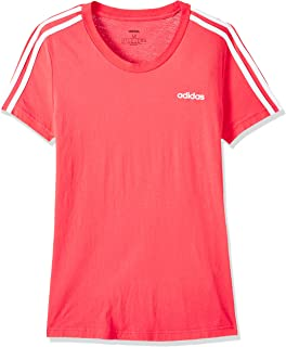 adidas Women's Essentials 3S Slim T-Shirt, Pink(Core Pink/White), Size:Medium