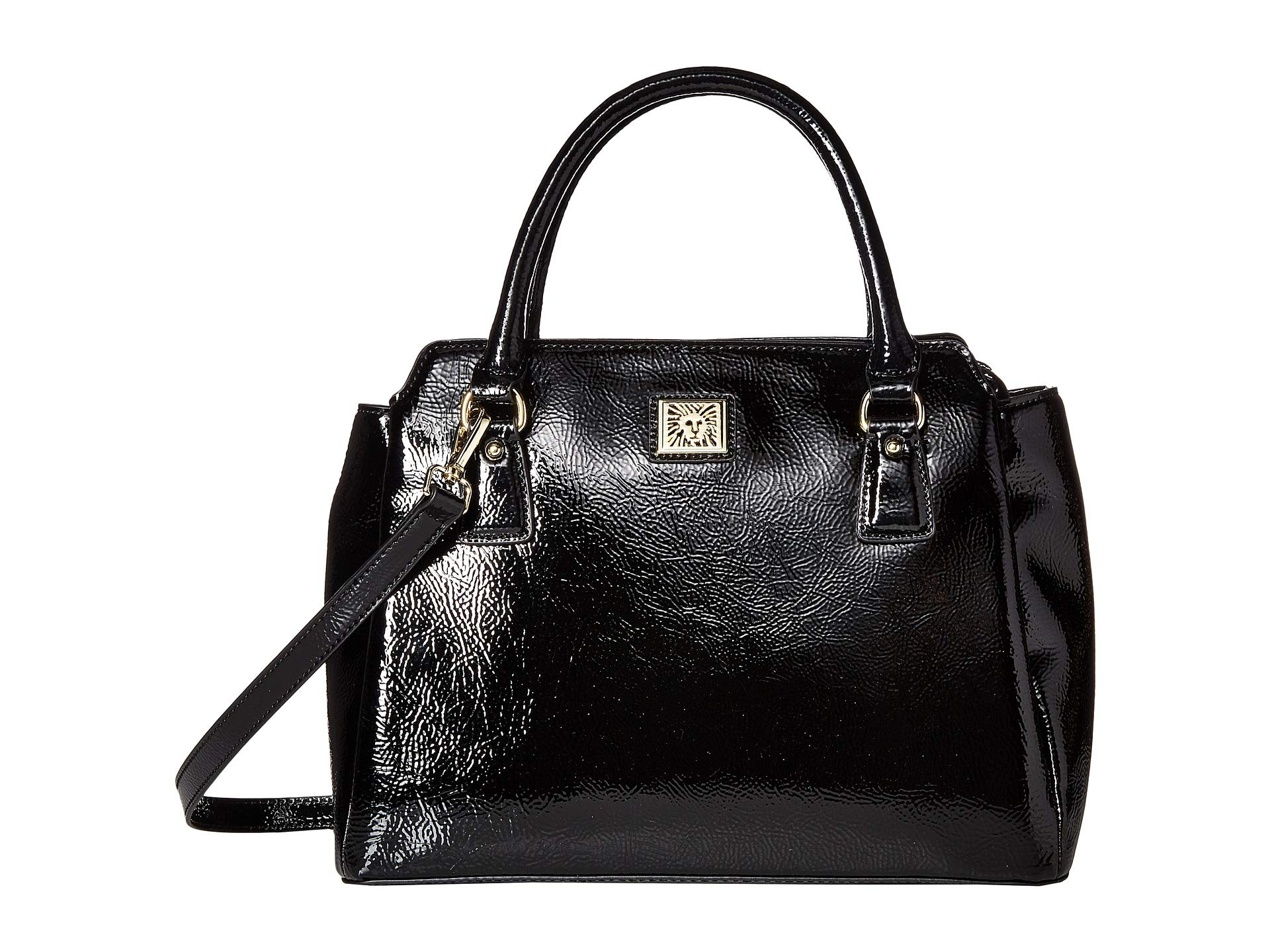 Black Compartment Crinkle Satchel Klein Triple Anne qtF1ZXwWnB
