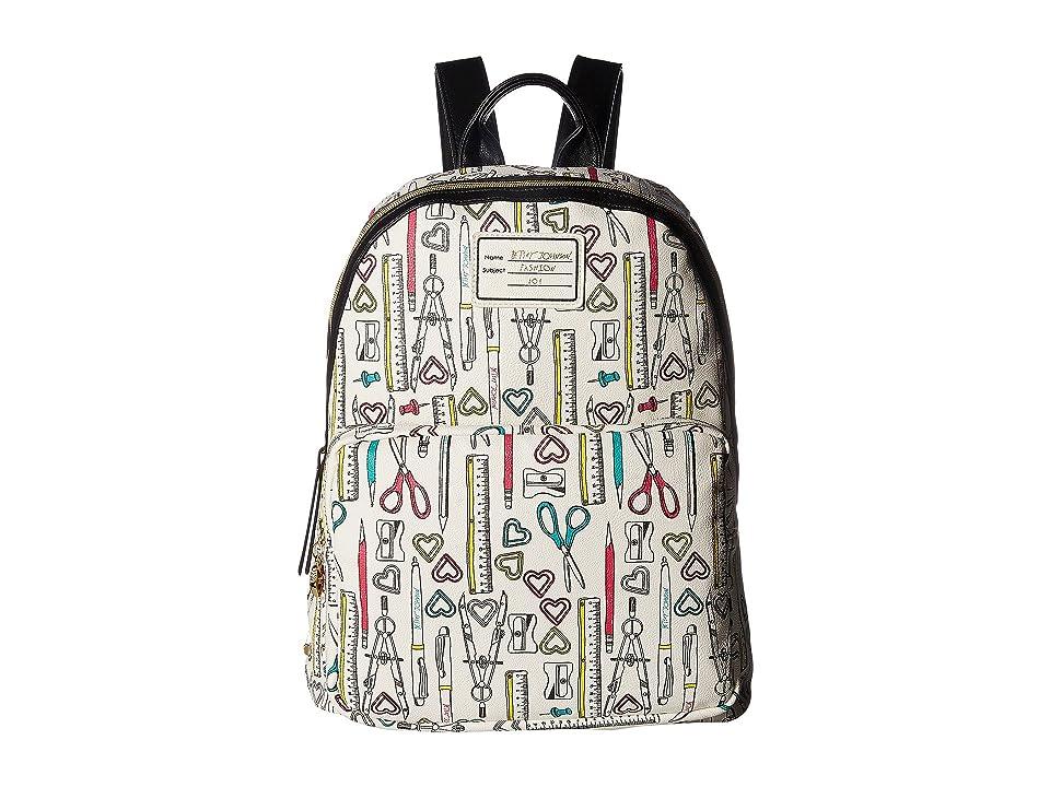 Betsey Johnson School Backpack (White Multi) Backpack Bags
