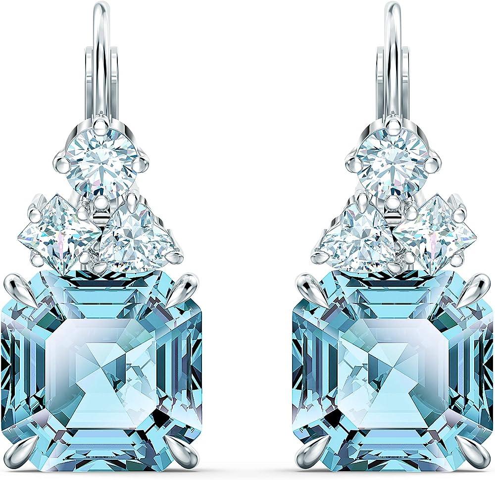 Swarovski orecchini sparkling, turchese, placcato rodio 5524139