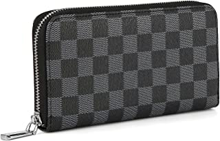 Daisy Rose Women's Checkered Zip Around Wallet and Phone...