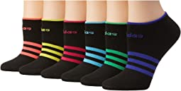 adidas - Superlite 6 Pair No Show Socks