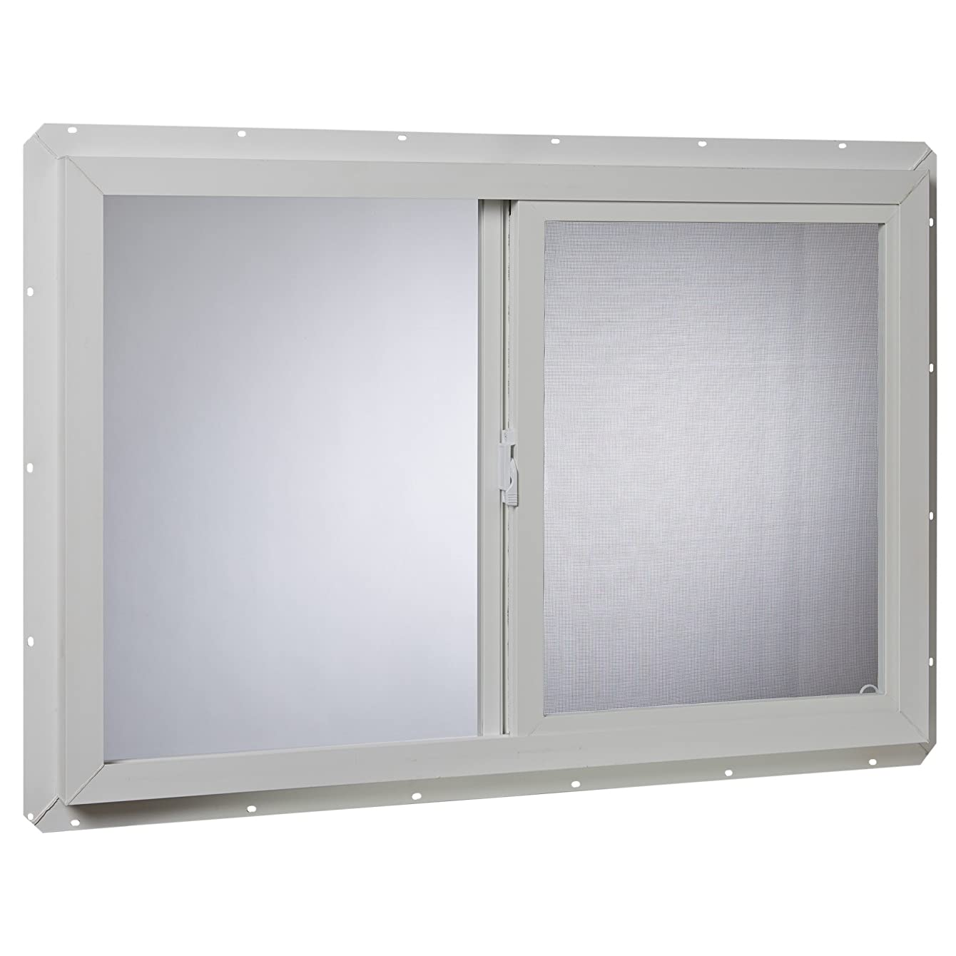 Park Ridge Products VUS3624PR Park Ridge Slider Glazed 36 in. x 24 in. Utility Single-Glass Sliding Vinyl Window – White, xkiehalyqzaav04