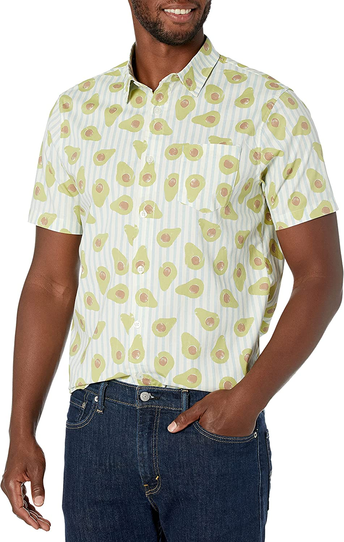 UNIONBAY Men's Stretch Poplin Button-up Woven Shirt