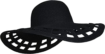 ae35a1740f2 ... HatQuarters · Boardwalk Style · FLH · RPI · Cute Straw Derby Sun Hat  w Square Cut-Outs