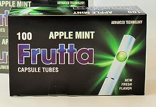 Tubi di Frutta con Click Mela Mint Capsule Tubi 5 confezioni da 100