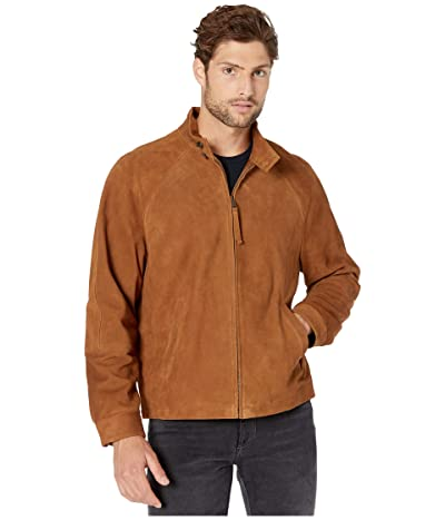 Vince Suede Harrington Jacket (Tobacco) Men