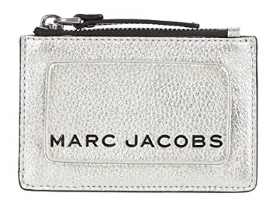 Marc Jacobs The Metallic Textured Box Top Zip Multi Wallet (Platinum) Wallet Handbags