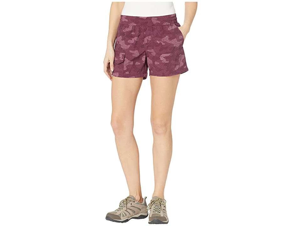 Columbia Silver Ridge Printed Pull-On Shorts (Deep Madeira Camo Print) Women