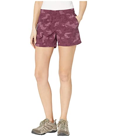 Columbia Silver Ridge Printed Pull-On Shorts (Deep Madeira Camo Print) Women
