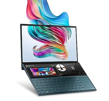 "ASUS ZenBook Duo UX481 Laptop, 14"" FHD NanoEdge Bezel Touch, Intel Core i7-10510U, GeForce MX250, 16GB RAM, 1TB PCIe SSD, Innovative ScreenPad Plus, Windows 10 Pro, Celestial Blue, UX481FL-XS74T"