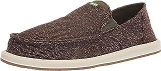 حذاء رجالي مسطح من Sanuk من قماش التويد