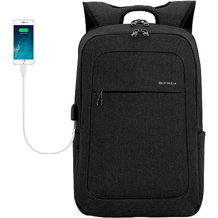 kopack 17 Inch Laptop Backpack Water Resistant/USB Charing/Anti-Theft Shockproof Slim Travel Computer Back Pack for College Business Grey Black